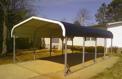 Standard 18x21x6 carport