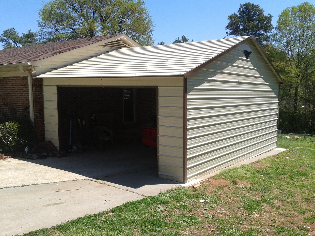 Garages and metal buildings for Garage attached to house