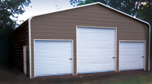 rounded edge garage, 3 garage doors