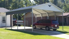 20x21x8,. vertical roof, with 1 gable and 2 cut side panels